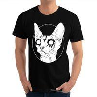 Sphynx Catan Beyaz CrazyCustom Kısa Kollu Üstleri EES Yaz Güz Büyük Boy 100% Pamuk Gömlek Öğrenci 210420