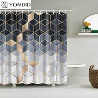 Yomdid мраморный узор ванна занавес водонепроницаемый душевые занавески геометрические ванна напечатанный занавес для ванной комнаты Navidad 210421
