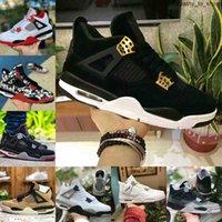 بيع 4 أحذية رجالي عميق المحيط النيون حزمة المعدنية الملوك الصبار جاك الأبيض الأسمنت 4 ثانية نقية المال المدربين أحذية رياضية X9