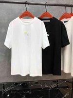 2021 Yaz Yeni Mektup Yuvarlak Boyun Pamuk Çift Gevşek T-shirt Erkekler ve Kadınlar Aynı Kısa Kollu T-shirt 0408 ** A *** W02
