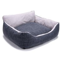 Cat Beds & Furniture Super Soft Pet Sofa Bed House Warm Kennel Cushion Improved Sleep For Dogs Cats