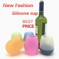 Wine Glasses Silicone Glass Stemless Tumbler Rubber Beer Mug Eco Unbreakable Cups for Cocktail Drinking Outdoor BBQ Camping Portable ILPL