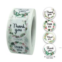 Obrigado adesivo adesivo festivo 2.5cm artesanal redondo adesivo adesivo para o feriado cozido envelope apresentar rótulo de vedação hwf6074