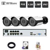 BFMORE 4CH 1080P POE 키트 H.265 + H.265 시스템 CCTV 보안 8CH NVR 2.0MP IP 카메라 야외 IR 야간 투시경 감시 캠 DIY 시스템
