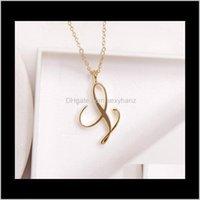Pingente colares pingentes de jóias entrega 2021 10 pcstiny redemoinho inicial alfabeto letra colar todos 26 inglês ouro a-t cursive luxu