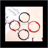 Party Favor 2 Pieces Couple Bracelets Magnets Attract Each Other Lover Friendship Gift Men And Women Charm Bracelet Jewelry Gwe3917 Uy F03Oc