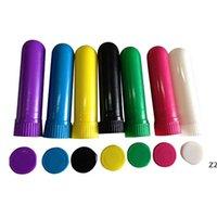100 set Olio essenziale colorato Aromaterapia Blank Vuoto per inalatore nasale diffusore con soffitti di cotone di alta qualità HWF9949