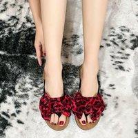 Slippers PAMANNI Women's Flip-flops Bowknot Plus Size 43 Non-slip Cool Beach Vacation Female Sliders Leopard Women Flat Shoes