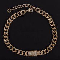 Braccialetto girocollo della catena della catena del collegamento dell'oro 18k dell oro 18k per gli amanti delle donne e degli amanti delle donne gioielli hip-hop con la scatola