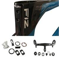 Vertigo Blue T1100 1K F12 Carbon Road Frames Direct Mount Brakes Bicycle Disk Frameset with Talon Handlebar 42 44 46.5 50 51.5 53 54 55 56 57.5 59.5cm for Selection