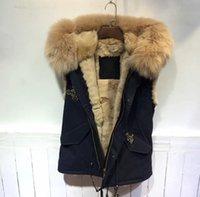 남자 조끼가 가짜 모피를 시작, 봄 코트 봄 착용, 거대한 너구리 후드 MR 또는 부인 검은 조끼