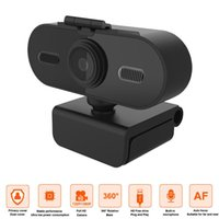 Webcams 1080P Auto Focus Webcam Mini Computer PC Camera With Microphone Rotatable Cameras For Live Broadcast Calling Conference Work