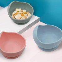 아기 실리콘 그릇 숟가락 모성 유아 먹이 칼 붙이 컵 보완 식품 그릇 드롭 증거 실리콘 그릇 세트 ZZE6081
