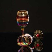Окрашенные стеклянные вино канавку Кристалл Шампанское Кубок красных чашек Vodka Bar Hotel Party J0525