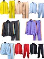 2021 مصمم تراكسويت الأزياء السراويل الاتجاه المدى الرجال سترة عداء الاجسام كمال الاجسام التسوق سيدة الملابس بالجملة تسلق النشط اللون الصلبة الركض المرأة دعوى