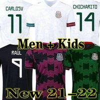H.Losano 2021 2022 멕시코 홈 축구 유니폼 플레이어 버전 Chicharito G Dos Santos 21 22 Aware Football Shirt Sports 성인 남성 + 키트 키트