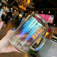 الإبداعية زجاجة المياه التدرج ستاربكس القهوة كأس أورورا الملونة مقاومة للحرارة البورسليكات الزجاج مشرق القدح عالية السعة