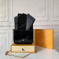 Wholesale Patent Leather Bag Designers Women Bags M61276 Set Chain Top Quality Flap Luxury Come Totes Cross Body Shoulder Piece Woman B Drxq