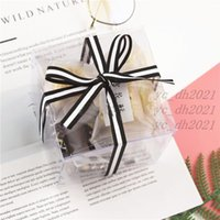 10*10*10cm Square Clear PVC Packaging Box Plastic Containers Fruit Gift Box Candy Chocolate Cake Box