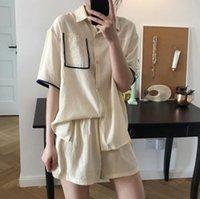 Femme Coton Shorts Ensemble Blazers de costumes pour femmes