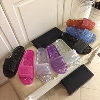 여성 슬리퍼 디자이너 Buty Damskie 가죽 고무 샌들 섹시한 럭셔리 슬라이드 여름 mujer 부드러운 패션 신발 크기 35-42 상자