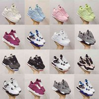 Infant Toddlers Qaulitys Products J 4S Kids Basketball Shoes Chicago 4 Boy Girl Sneaker Light Green Lights Grey Khaki Baby Trainers Children