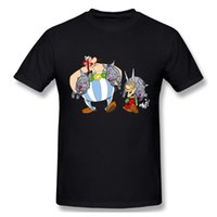 Men's T-Shirts Asterix Obelix Tshirt Men T Shirt Shirts Cotton Summer Tops Tshirts Short Sleeves Tees T-Shirt Mens