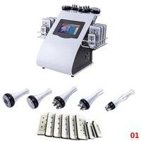Estoque em EUA Rádio Frequência Bipolar Ultrasonic Cavitação 6in1 Celulite RemovalsLambersLamberMachine Vácuo Perda de Peso Beleza Equipmet FedEx