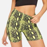 Сексуальные женщины лето короткие шорты змея печать высокие талии шорты эластичные талии короткие брюки женщин брюки панталон Cortos Mujer 210527