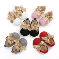 First Walkers Born Baby Cute Bow Walker Infant Girl Sweet Soft Soles Lovely Toddler Anti-Slip Princess Shoes Style