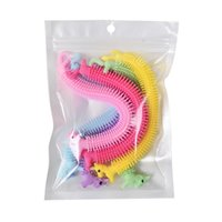 Novelty Soft Unicorn Elastic Rubber Strip Toys Children Decompression Pull Rope Vent Ramen Noodles Colorful Gift