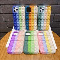 Fidget Rainbow Phone Capas Multi-cor Descompressão Silicone Capa para iPhone 13 12 Pro Max Mini 11 XR XS x 8 7 Plus