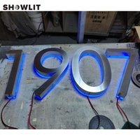 Blaue Beleuchtung Türschild Backlit Home Nummern LED Halo Lit Hausnummer Benutzerdefinierte Andere Hardware