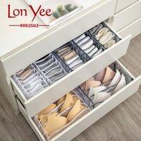 Foldable 스토리지 박스 속옷 브래지어 팬티 양말 주최자 저장된 상자 서랍장 스카프 주최자 나일론 분배기 가방 YL0336