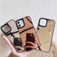 Capa espelhada luxo para Mobile Phone Cases, com estampa de leopardo 3d, iphone 12 pro max se 7 8 plus 11 xs x xr