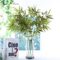 Fleurs décoratives couronnes artificielles plantes vertes bambou feuille de soie fleur de soie paysage intérieur arrangement mariage matériel maison noël de noël