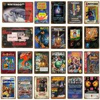 Jogo Genie Gaming Poster Poster Adesivos de Parede Adesivos Vintage Arte Pintura Placa para Club Kids Room Game Center Home Decor Sinais de Metal