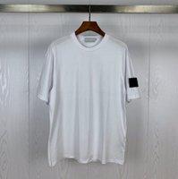 디자이너 티셔츠 고품질 코튼 남성용 짧은 소매 돌 여름 둥근 목 티셔츠 패션 배지 womens tshirts streetwear 섬 티셔츠 참신한 남자 의류