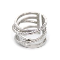 Classic Snake Knotted Love Ring For Man Woman Stainless Steel Delicate Silver Chain Cuff Big Rings Men And Women Latest Design Cuban Hiphop Jewelry Wholesale With Box