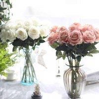 hochzeit dekorationen künstliche blumen seide blumen rose braut blumenstrauß hochzeit home party dekoration gefälschte seide einzelne stamm blumen floral