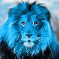 Paintings Hight Quantity Full Drill Round Paint Diamond Painting Kits Blue Lion Canvas 5d Diy