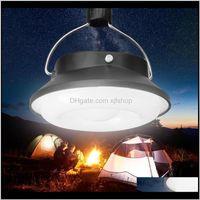 Lanternas portátil ao ar livre movido a energia solar 28 LED Camping Caminhada de Caminhadas Luz recarregável lâmpada de noite QJUQC 8HGB2