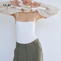 VGH Kayısı Cape Kazak Kadınlar için Balıkçı Yaka Fener Uzun Kollu Kısa Kazak Kısa Kazak Kadın 2020 Moda Yeni Giyim1