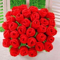 Decorative Flowers & Wreaths Selling Plush Flower Artificial Rose Stuffed Toy Cartoon Fake Flowers Curtain Buckle Party Wedding Home Decor I