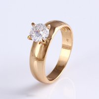 11799 Promotional big diamond custom ring, 18k gold color gold engagement ring
