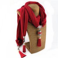 Bohemian National Wind Foulard Colliers Buddha Perles Collier Collier Maxi Déclaration Collier pour bijoux de style femme