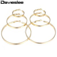 DavieSlee Womens Hoop Ohrringe Wohnung Runder Kreis Silber Gold Für Frauen Modeschmuck 2021 Geschenke Anweisung 4mm LGEM24 Huggie