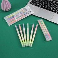 Kalem siliş seti çift kafa iki renk su yuvarlak boyama el hesabı küçük frh işaretleyici