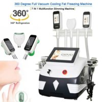 Hot 5 In 1 Cryolipolysis With 3 Cryo Handles+40K+Rf+Rf+ 6 Pads Lase Cavitation 360° Double Chin Fat Freeze Slimming Machine#004