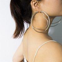 Einfache geometrische Ohrringe neuen in populären Art und Weise Luxus-Designer-schönen Schmetterling Herz-Clip Ohrringe für Frau Mädchen 1239 B3